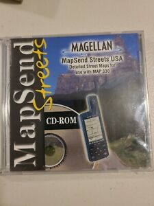 New - Magellan MapSend Streets CD For Map 330