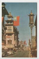 Vintage 1950s Grant Ave Chinatown Street View San Francisco CA Postcard
