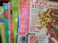 Buy 3 Get One Free! McCall's Quick Quilts Magazine Back Issues
