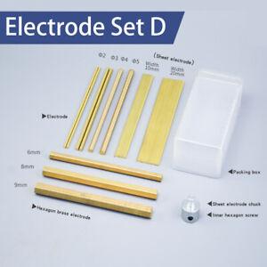 1 Set Φ2- Φ9 Brass Electrodes for Broken Tap Remover Portable EDM Tap Burner