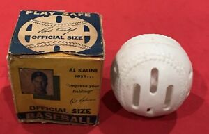 Vintage 1950's Baseball Wiffle Ball in Original Photo Box w Al Kaline Bob Turley