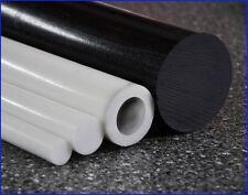 POM Bar complet Noir Barre Matériau plein Plastique rondes jusqu'à 100cm