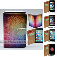For Apple iPhone Series - Mosaic Print Flip Wallet Mobile Phone Case Cover