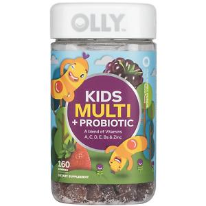 Olly Kids' Multi + Probiotic Yum Berry Punch Vitamin Gummies (160 ct.)