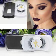 Soft Long Luxury Thick Makeup Eye 100% Black horsehair Lashes False Eyelashes