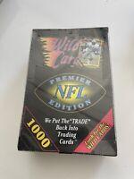 Vintage 1991 Wild Card NFL Football Wax Box FACTORY SEALED RARE VINTAGE