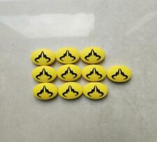 10Pcs Nadal Tennis Vibration Dampener To Reduce Tenis Racquet Vibration Yellow
