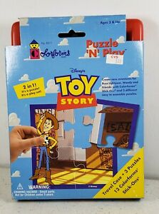 Toy Story 2 n 1 Puzzle and Play Travel Case Set No 8511 Colorforms Puzzle N Play