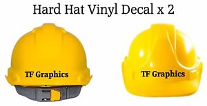 Personalised Hard Hat Vinyl Decal - Safety Helmet Sticker Site Manager Boss Name