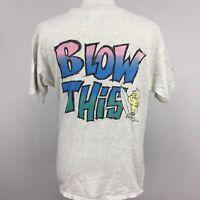 VTG 90s Bubble Gum Surf Wax Sticky BLOW THIS Mens T Shirt sz L USA Cotton