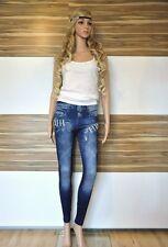 Leggings in Jeans Optik blau Leggins Jeggings Hose Treggins Legins 34/ 36/ 38