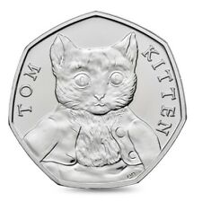 Rare 50p Coin UK – Tom Kitten – circulated