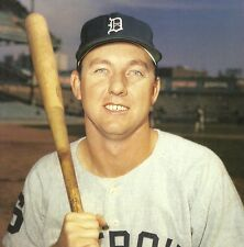 DETROIT TIGERS CLASSIC AL KALINE WITH BASEBALL BAT IN HAND HALL OF FAME