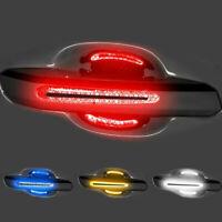 8Pcs Reflective Car Door Handle Bowl Sticker Strip Films Protective Accessories