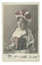 Fanny Fields Signed Postcard Photo 1906 / Stage Actress Autographed