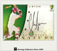 2008-09 Select Cricket Trading Cards Star Signature Card S3 Chris Simpson