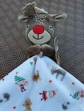 Tu.. Christmas .. Reindeer Baby Comforter Blankie  ..  Vgc