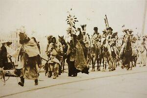 Uncommon Antique American Indian Parade Real Photo Postcard RPPC w Geronimo?