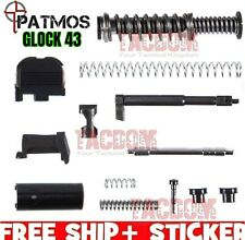 PATMOS Upper Slide parts Kit for Glock 43 43X 48 GEN 3 SS80 9mm W/ Recoil Spring