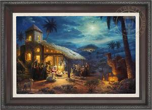 Thomas Kinkade Studios Nativity 18 x 27 Limited Edition E/E Canvas Framed