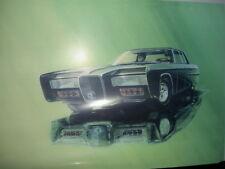 AURORA MODELS GREEN HORNET KATO BLACK BEAUTY CAR PAINTING COLOR LITHOGRAPH