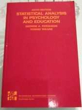 STATISTICAL ANALYSIS IN PSYCHOLOGY & EDUCATION - 6TH ED