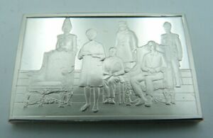 925 Solid Silver Ingot - 'The 700th Anniversary Celebration of Parliament' 1965