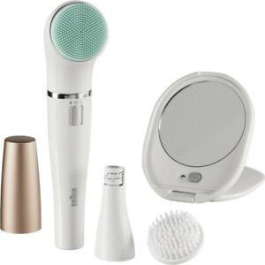 BRAUN FaceSpa Gesichtsepilierer und Reinigungsbürste 851v silber/weiß B-WARE