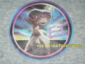 TRUE Vtg 80s E.T. EXTRA TERRESTRIAL SWEAT SHIRT CREW NECK Sz YL/XS IRON ON USA