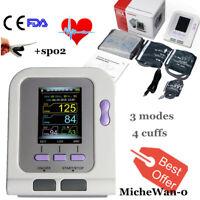 NIBP/SPO2 Automatic Digital Blood Pressure Monitor Upper Arm Pulse Rate 4 cuffs