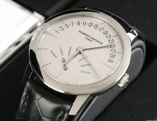 VACHERON CONSTANTIN PATRIMONY BI-RETROGRADE DAY & DATE 18K WHITE GOLD 86020