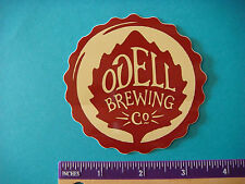 BEER STICKER ~*~ ODELL Brewing Company ~ Ft Collins, COLORADO Brewery Since 1989