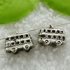 Free Ship 160 pieces tibet silver school bus charms 16x14mm #838