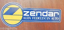 ADESIVO sticker vintage stickers adesivi ZENDAR alta fedeltà in auto radio vendo
