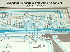 Service Layouts: SUNN Alpha Series Power Bd, Four, Six, Eight Preamp, Components