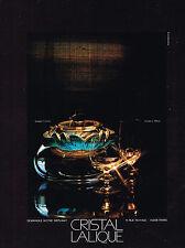 PUBLICITE  1973   LALIQUE   service   BLOIS  lampe CYRUS