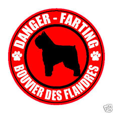 "FARTING BOUVIER DES FLANDRES FART 5"" DOG STICKER"