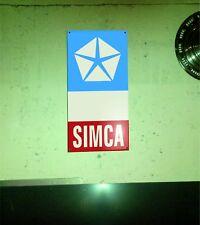 Plaque publicitaire Simca Vintage 60 x 30 cm