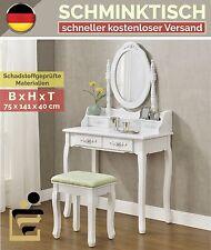 Schminktisch MIRA + Spiegel und Hocker Kosmetiktisch Frisiertisch Landhaus Weiß