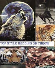 Animal Print Machine Washable Modern Bed Blankets