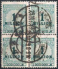 MiNr. 314AP im Viererblock mit Abklatsch des Werteindrucks geprüft + gestempelt