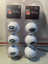 New listing NEW YORK JETS NFL Golf Balls 3 Packs Lot Of 2