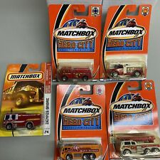5x Lot  Matchbox Emergency response fire vehicles fire trucks alarm rescue