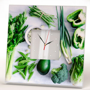 Green Vegetable Avocado Wall Clock Mirror Food Art Kitchen Cafe Bar Design Decor