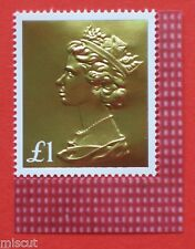 DY21 2017  50th Anniversary Machin £1 Gold Machin Single Stamp ex PSB SG U3966