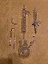 Dimrothkühler Kolben Tropftrichter Laborglas Synthese Trockenrohr