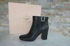 PRADA Gr 40 Stiefeletten Booties Stiefel Schuhe schwarz 1T159F black neu UVP650€