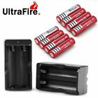 8pcs BRC 18650 Battery 4000mAh Li-ion 3.7V Rechargeable Batteries + Charger USA