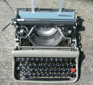 Vintage Olivetti, IVREA, ITALY Typewriter, working!