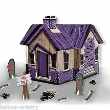 28cm Halloween HAUNTED SHACK House Party Table Centrepiece Decoration